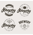 set vintage brewery badge label logo template vector image vector image