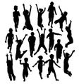Silhouette Activities Children Playing vector image vector image