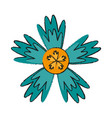 single blue flower icon image vector image vector image