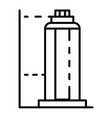 skyscraper building icon outline style vector image