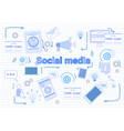 social media communication concept internet vector image vector image