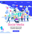 social media square banner with copy space vector image vector image
