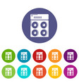 speaker box icons set color vector image