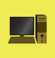 technology gadget in flat design computer vector image vector image