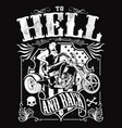 to hell and back vector image