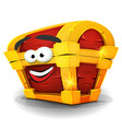 treasure chest character vector image vector image