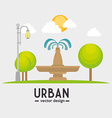 Urban and cityscape design vector image