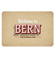 welcome to bern vector image