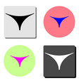 women thong underwear flat icon vector image
