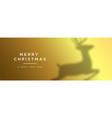 year gold deer banner background vector image vector image