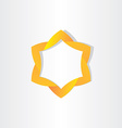 yellow star symbol design vector image
