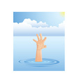 Drowning hand vector image