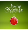 Merry Christmas theme on green background vector image