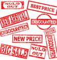 Sale stamp set vector image