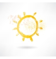 Brush sun icon Creative nature vector image