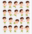 cartoon character white boy in a swimsuit set vector image