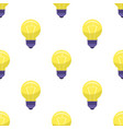 yellow bulb isolated on white presenting idea vector image
