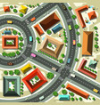 aerial top view flat design abstract city with vector image