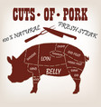 cut of meat set vector image