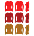 long sleeve t-shirt templates vector image
