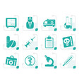 stylized medical and healthcare icons vector image