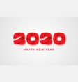 2020 happy new year numeral text banner vector image