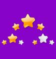 3 stars level achievement vector image vector image