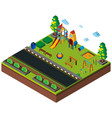 3d design for playground by the road vector image vector image