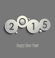 Abstract gray New Years wishes template vector image