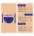 abstract menu presentation vector image vector image