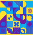 abstract mosaic style geometric background vector image vector image