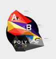 abstract polygonal infographics vector image