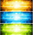 Abstract shiny banners vector image