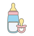 babottle milk with pacifier vector image vector image