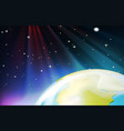 background scene from outer space vector image vector image