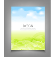 business template with blue sky and green grass vector image vector image