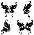 butterfly silhouette for you design vector image