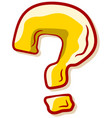 cartoon yellow question mark icon vector image