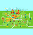 children playground in park with people and vector image vector image