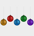 christmas ball handing on string collection xmas vector image vector image