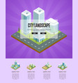 city landscape with big buildings poster vector image vector image