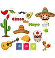 collection cinco de mayo design elements vector image