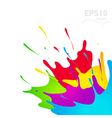 colored paint splashes in abstract shape vector image