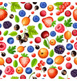 colorful ripe forest berries seamless pattern vector image