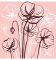 decorative drawing flowers poppy vector image vector image