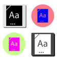 dictionary book flat icon vector image