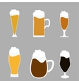 Different types of beer vector image vector image