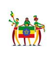 ethiopian with ethiopia flag symbol vector image vector image