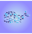 fishing icons whale symbol eps10 vector image vector image