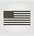 flag icon usa black and white flat design vector image